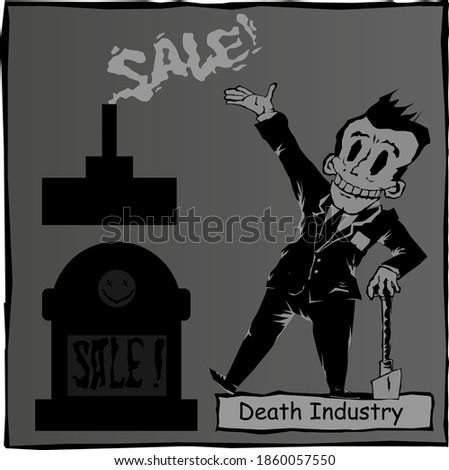 black humor caricature