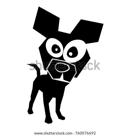 black icon funny doggy