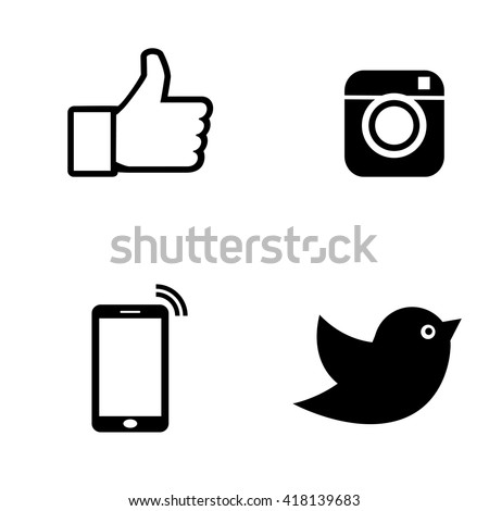 Black icon set Vector illustration