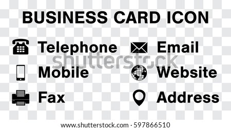 Free minimal style contact icons download free vector art stock black icon vector set for business namecard reheart Gallery