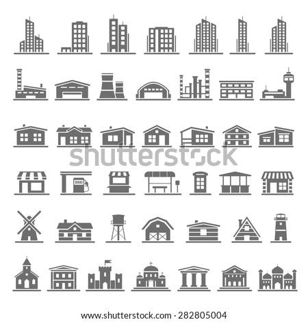 Black Icons - Buildings