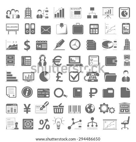 Black Icons - Business and Finance