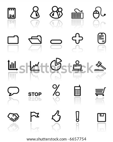 Black Icons,  Business and Office (set5,part1)