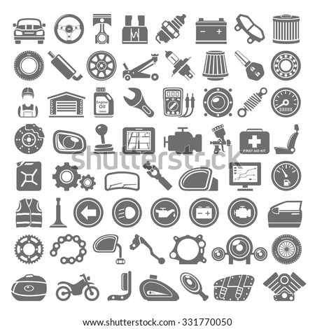 Vector Images Illustrations And Cliparts Black Icons Car And