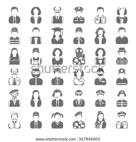 Black Icons - People