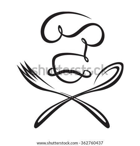 black illustration of spoon