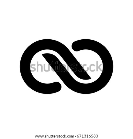 Black Infinity Logo Template #671316580
