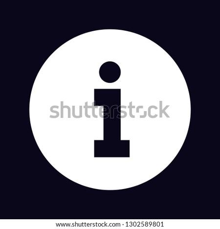 black information symbol icon inside white circle slab serif i