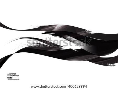 black ink stripe abstract