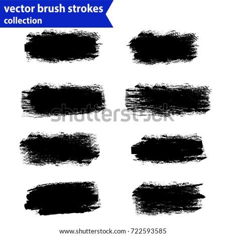 Black ink vector brush strokes #722593585