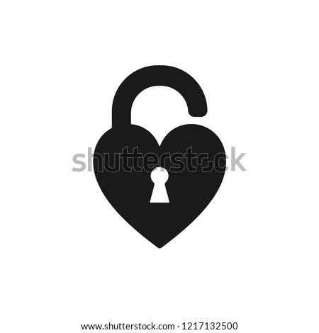 black isolated icon of unlocked