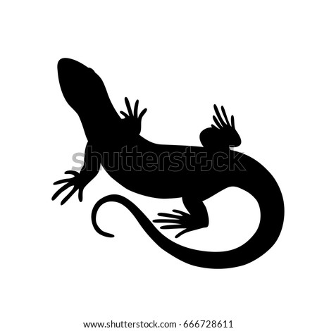 black isolated silhouette of