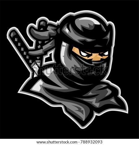 black japan ninja vector