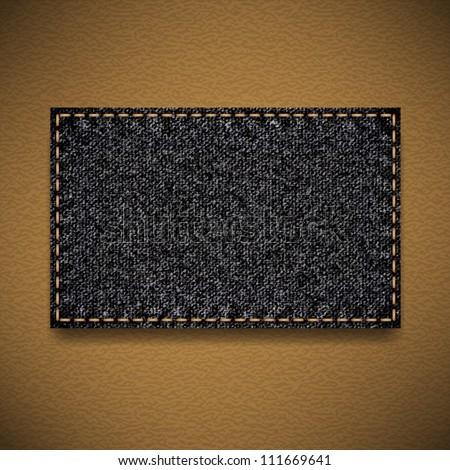 black jeans label