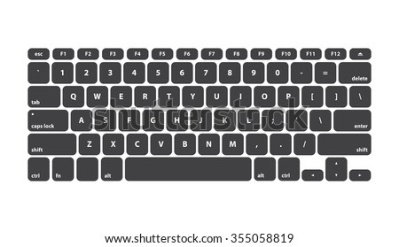 black keyboard stroke qwerty