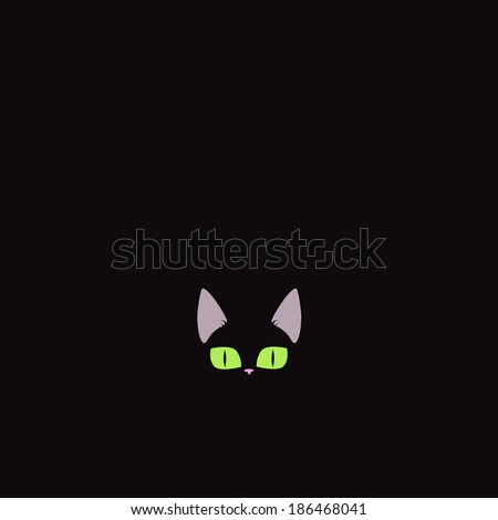black kitten illustration