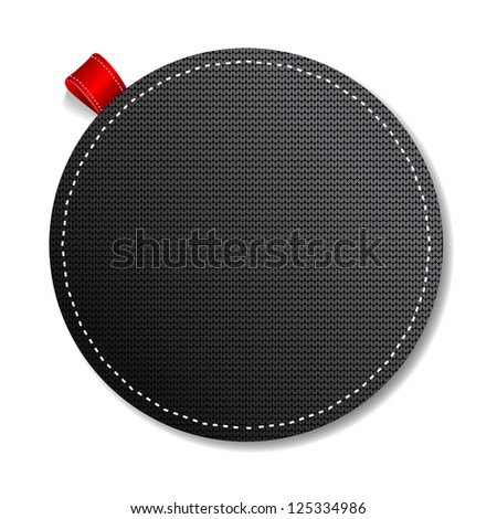 Black Knitted label - stock vector