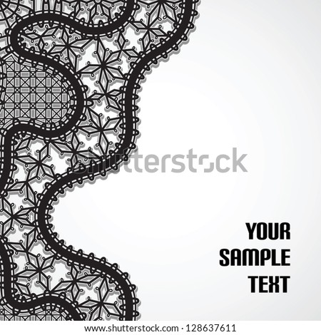 Black lace, vector background