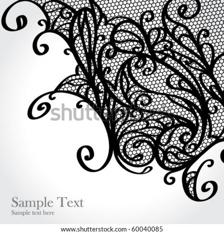 Black lace vector design