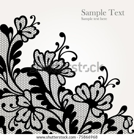Black lace vector design  All shape available under clipping mask