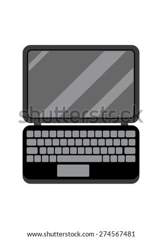 Black Laptop, Device Icon