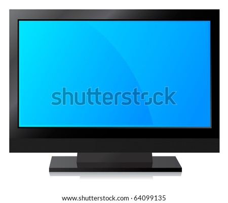 Black LCD, LED, Plasma TV , Blue Screen