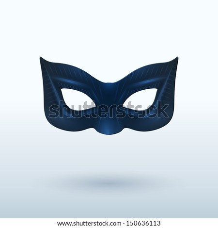 Black Leather Mask for Superhero Vector Illustration