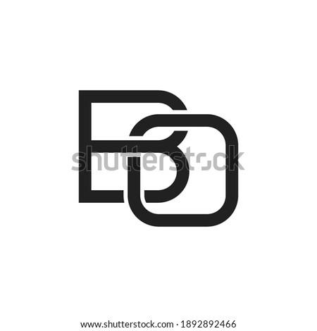 Black letter BO initial logo icon. Modern typography design template elements. Stok fotoğraf ©