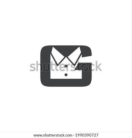 Black letter G Clothes Shop Logo Design icon Logo simple and Minimalist