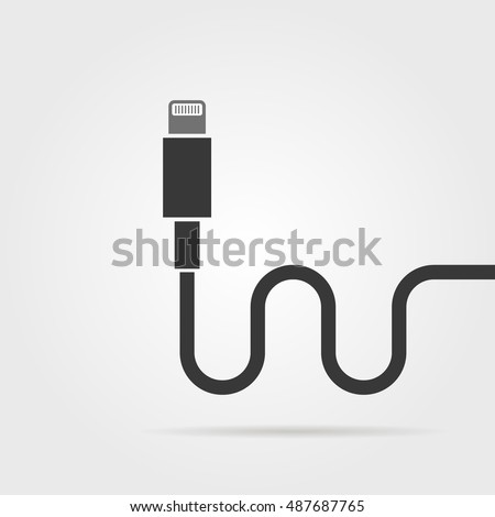 black lightning connector with