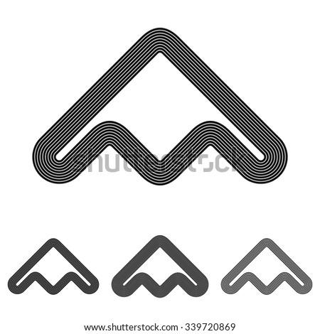 black line abstract symbol logo