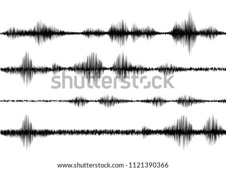 black line soundwave effect with vector design
