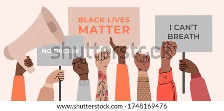 black lives matter  crowd of