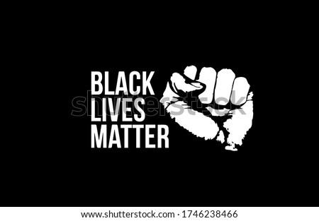 Black lives matter fist design vector