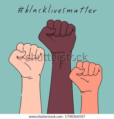 black lives matter poster card