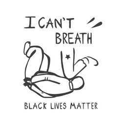 Black lives matter protest banner. Man pinned down by an officer leg. Vector isolated illustration.