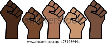 black lives matter proud fists