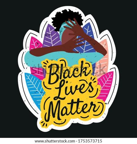 black lives matter sticker with