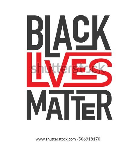 black lives matter typography