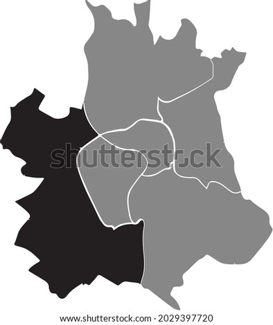 black location map of the