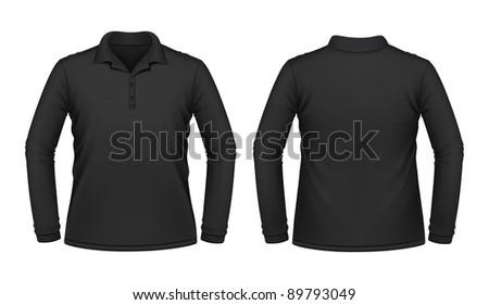 Black long sleeve men shirt