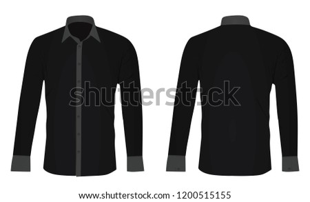 Black long sleeved shirt. vector illustration #1200515155
