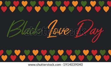 black love valentines day