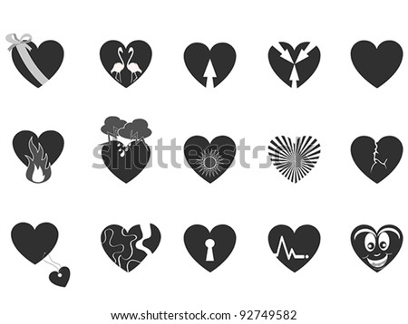 black loving heart icon