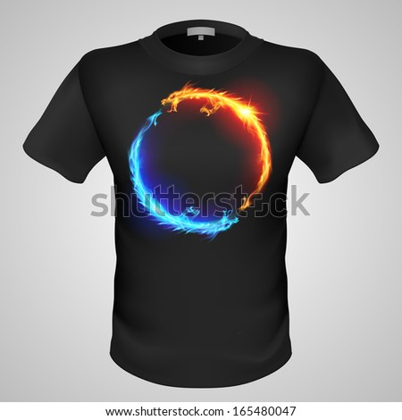 black male t shirt with two