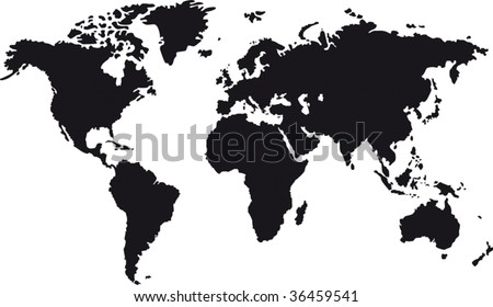 World map silhouette download free vector art stock graphics black map of world with countries borders gumiabroncs Choice Image