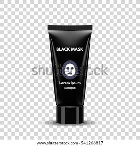 black mask tube on a