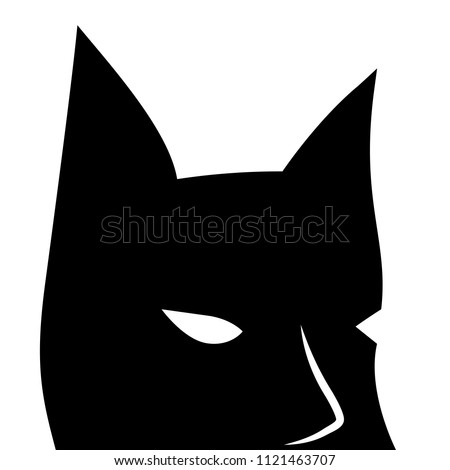 black mask with sharp ears