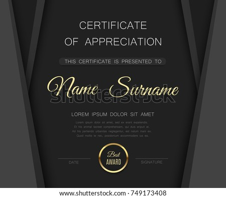 black matte certificate of