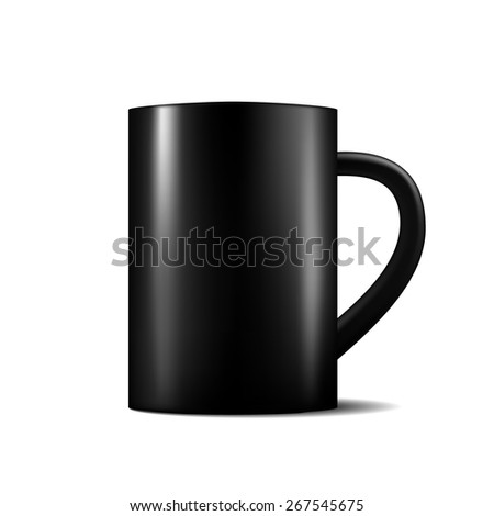 black matte cup template